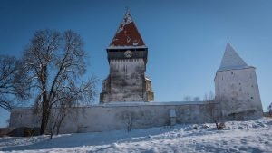 Fortified Church in Winter