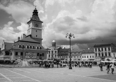 Brasov in black and white
