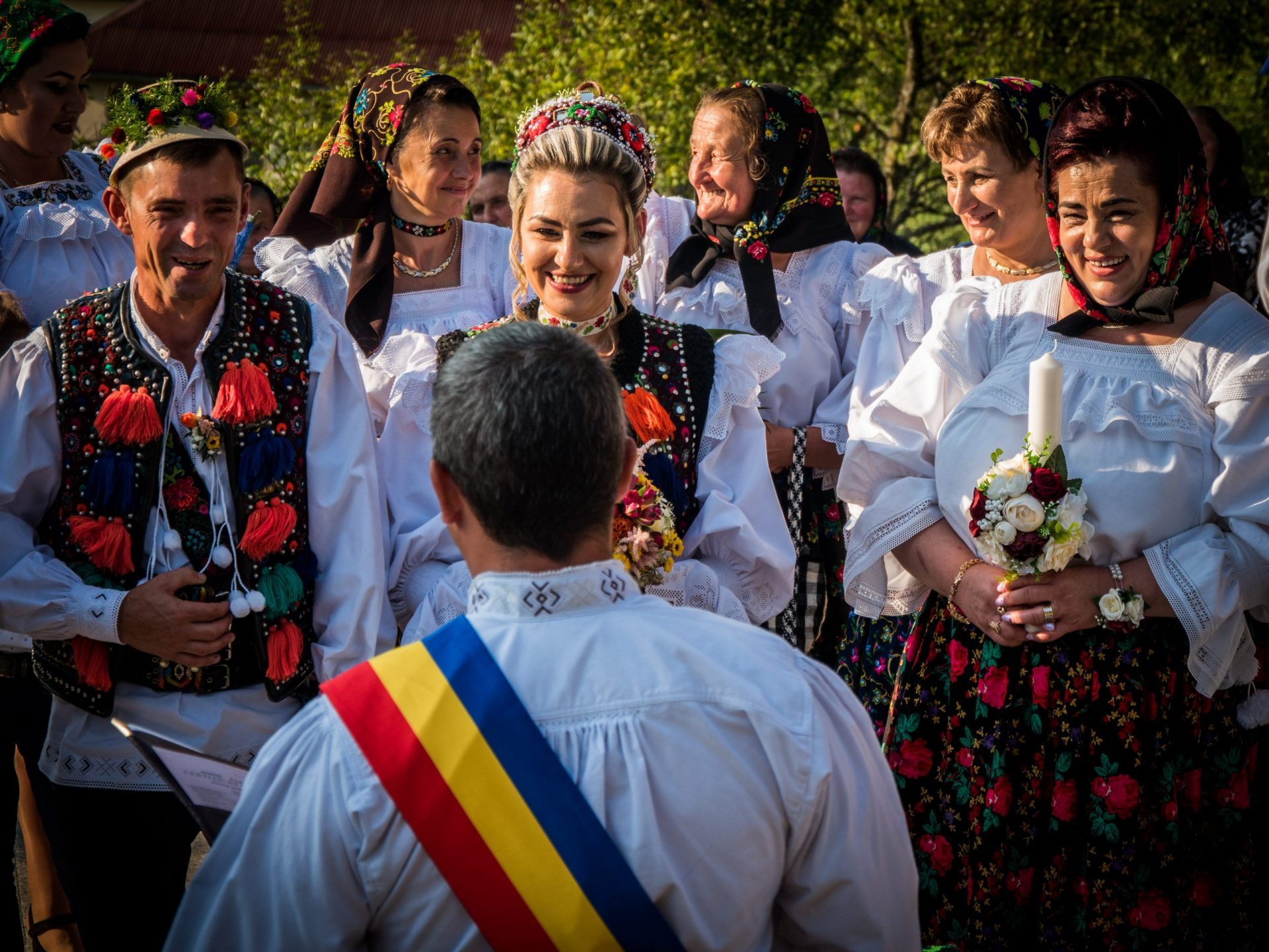 Proud to be Romanian - traditional wedding