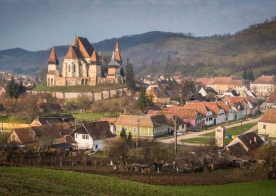 Biertan Fortified Church in spring