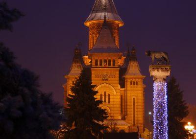 Christmas market in Timisoara, Romania