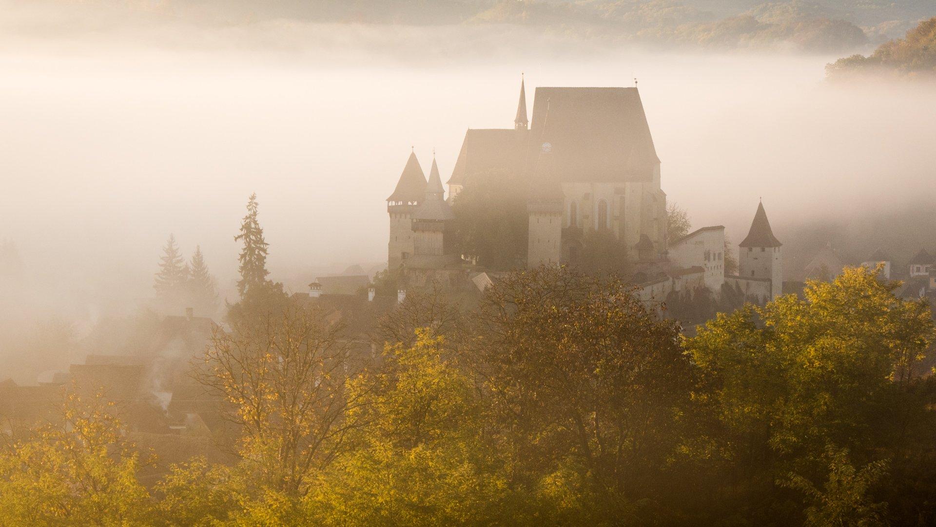 Biertan Fotified Church at sunrise