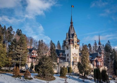 Peles Castle in Winter