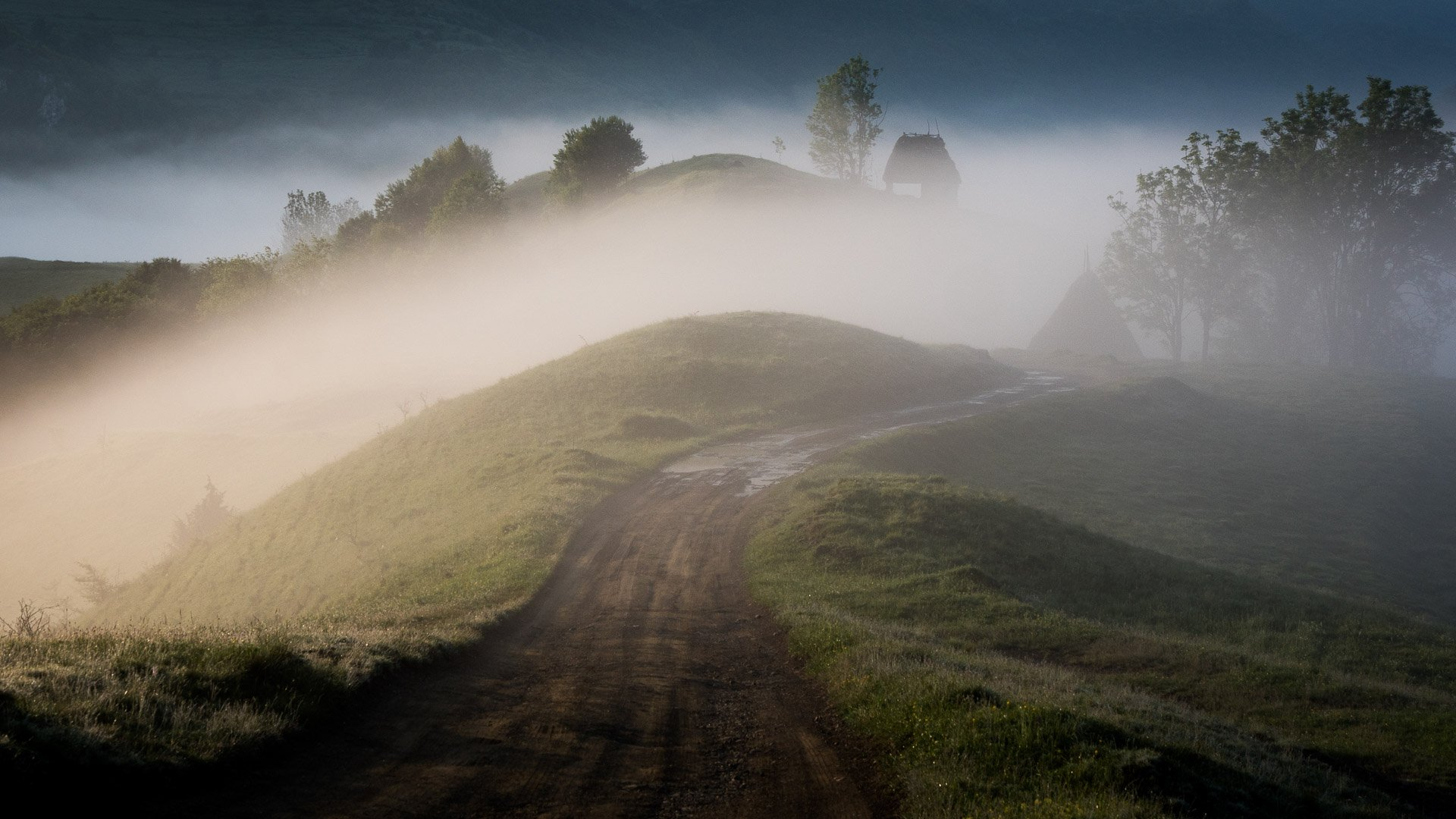Sunrise shoot in mountainous Transylvania