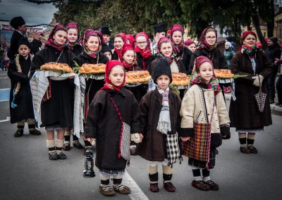 Traditional costumes on Christmas Day in Maramures