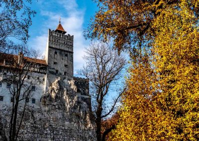 Bran Castle during the fall colors