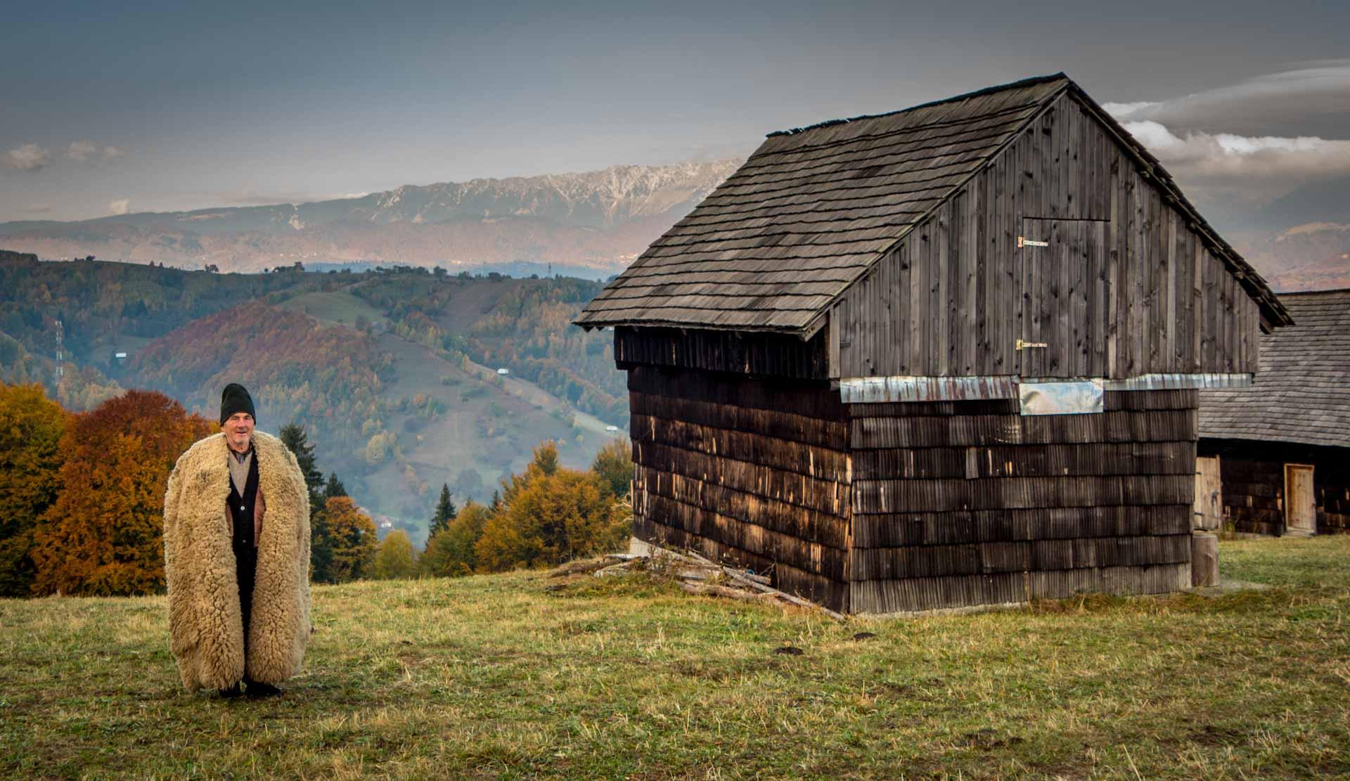 Shepherd in the Carpathian Mountains