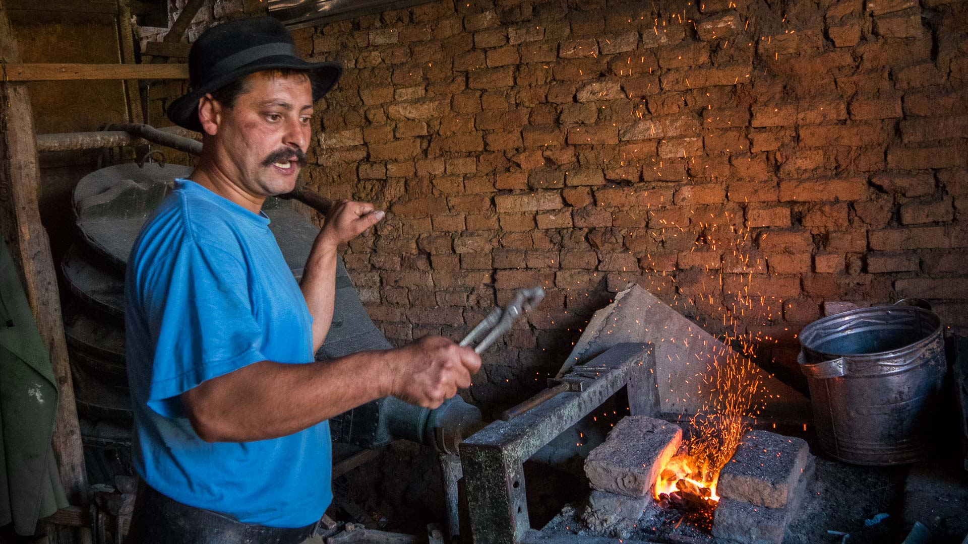 Blacksmith in Viscri village