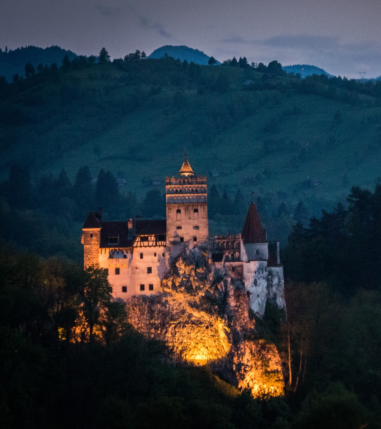 Bran Castle at the blue hour