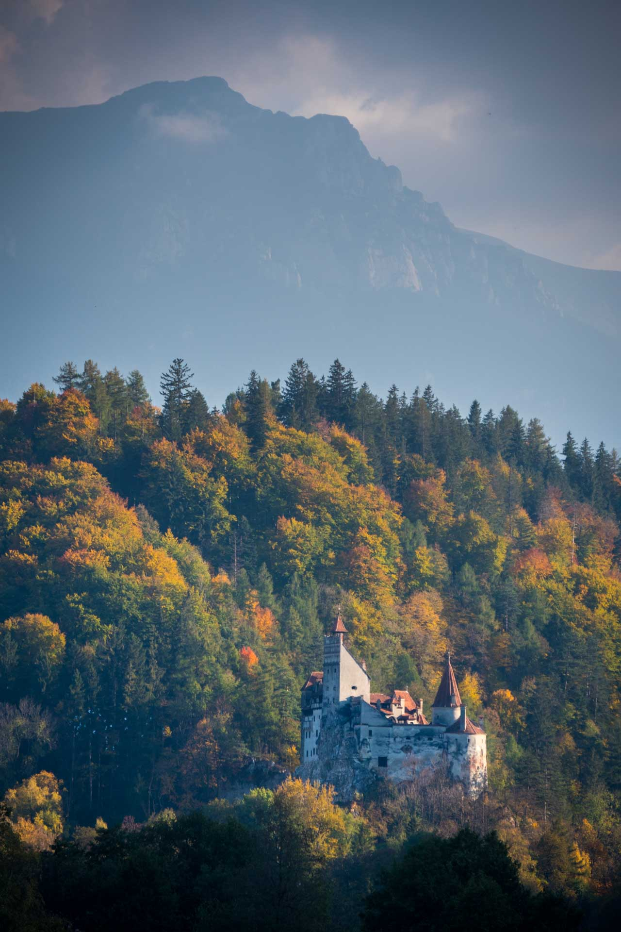 Bran Castle in autumn