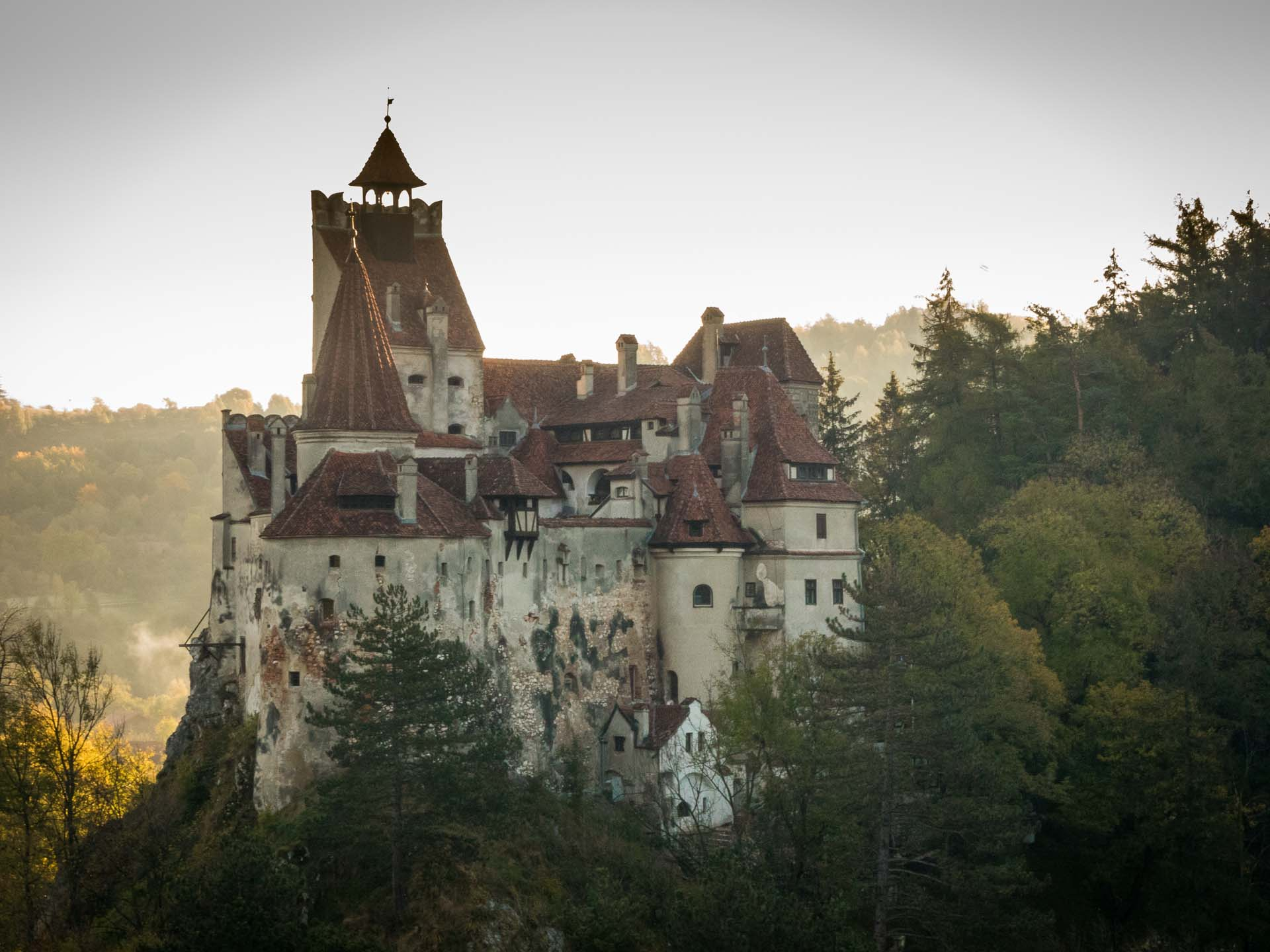 Bran Castle in fall