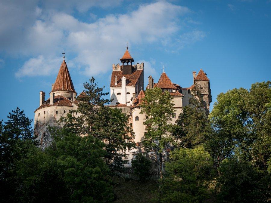 Bran Castle in summer