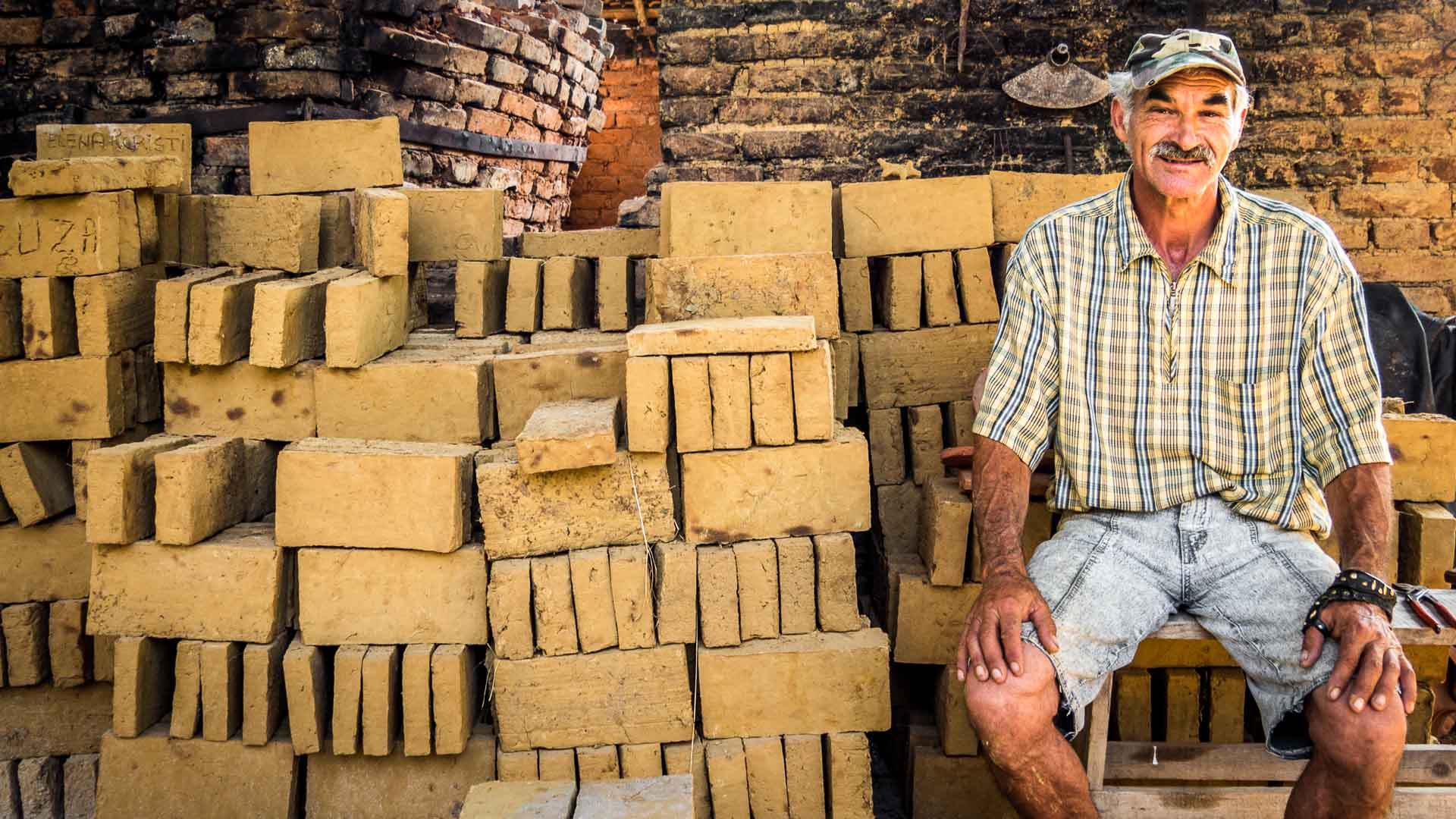 Brick - maker in Viscri
