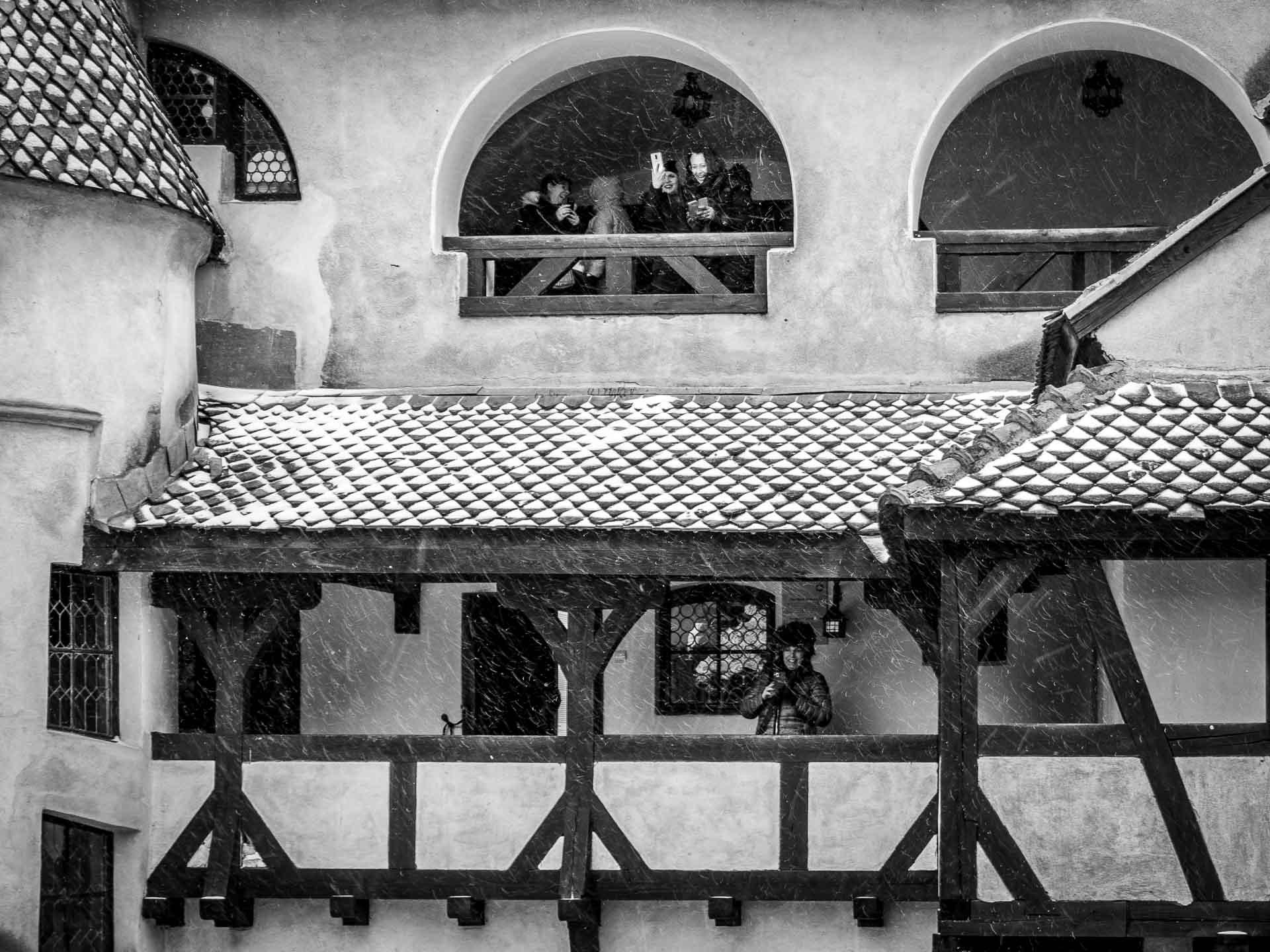 Interior courtyard of Bran Castle