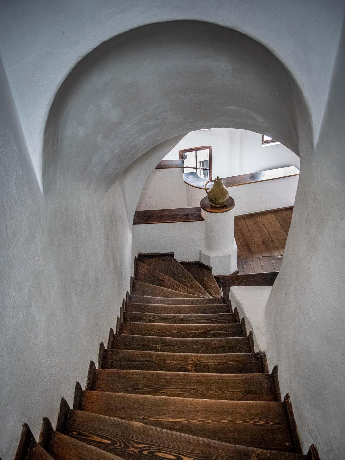 Tunnel inside the Bran Castle