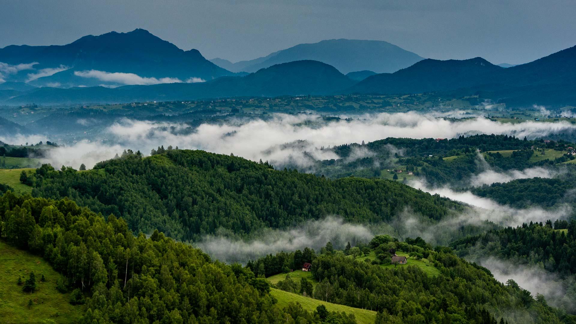 Mountainous landscape of Romania