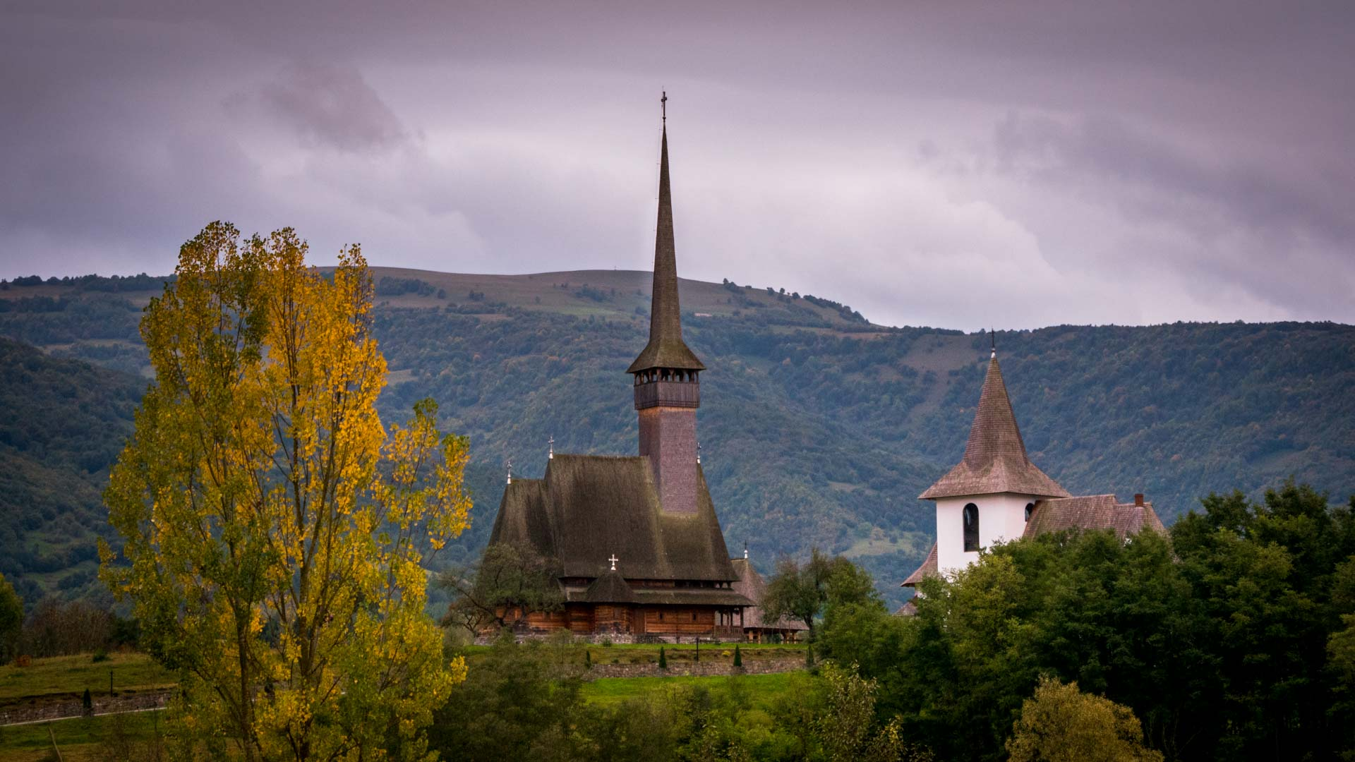 maramures wooden church in fall
