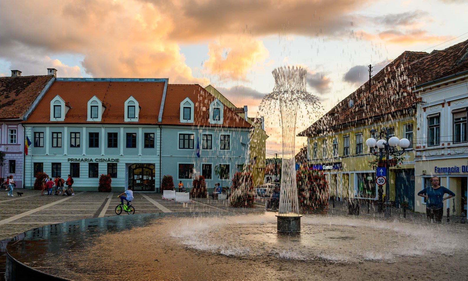 Sibiu la apus